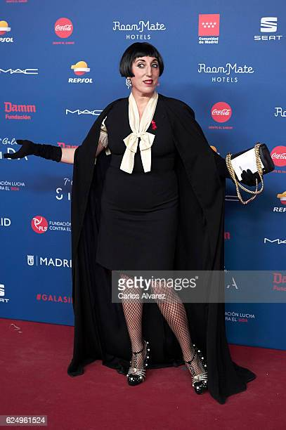 Spanish actress Rossy de Palma attends 'Gala Sida' 2016 at Madrid City Hall on November 21 2016 in Madrid Spain