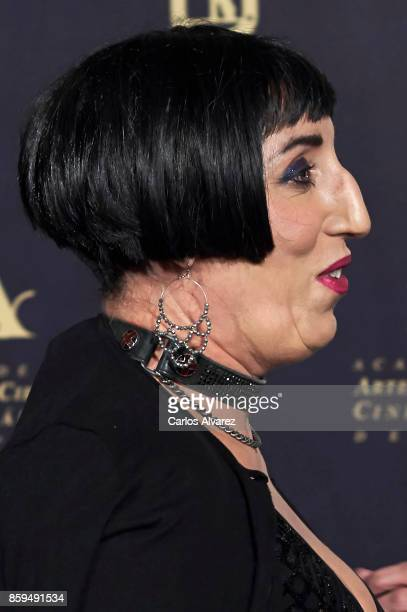 Spanish actress Rossy de Palma attends 'Hollywood Madrid' cocktail at the Casino de Madrid on October 9 2017 in Madrid Spain