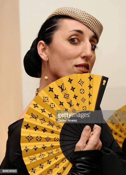 Spanish actress Rossy de Palma attends Louis Vuitton hand fan collection presentation at Louis Vuitton Store on March 25 2009 in Madrid Spain