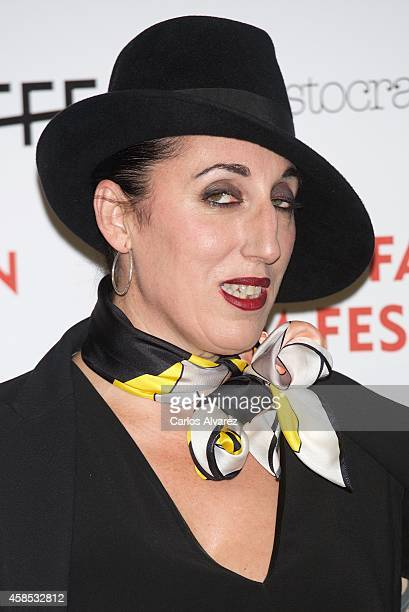 Spanish actress Rossy de Palma attends the Madrid Fashion Film Festival photocall at the Cibeles Palace on November 6 2014 in Madrid Spain