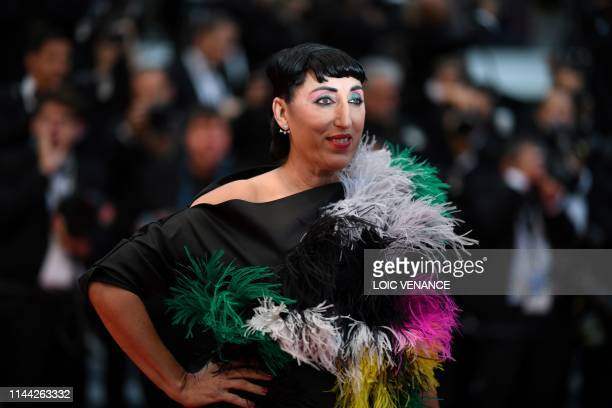 Spanish actress Rossy de Palma poses as she arrives for the screening of the film Dolor Y Gloria at the 72nd edition of the Cannes Film Festival in...