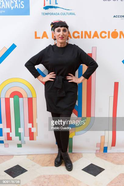 Spanish actress Rossy de Palma presents TIFE 2018 at the French embassy on January 23 2018 in Madrid Spain