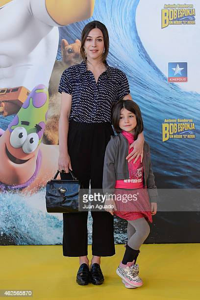 Spanish actress Ruth Diaz attends the 'Bob Esponja' Premiere at Kinepolis Cinema on January 31 2015 in Madrid Spain
