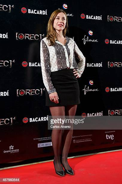 Spanish actress Ruth Diaz attends the 'REC 4' premiere at the Capitol cinema on October 27 2014 in Madrid Spain