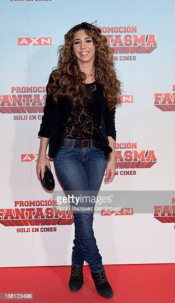 Spanish actress Sandra Cervera attends 'Promocion Fantasma' premiere at Capitol Cinema on February 2 2012 in Madrid Spain