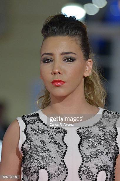 Spanish actress Sandra Cervera attends the 'Carmina y Amen' premiere during the 17th Malaga Film Festival at the Cervantes Theater on March 22 2014...