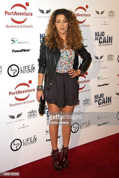 Spanish actress Sandra Cervera attends the 'Hijo de Cain' premiere at the Callao cinema on May 30 2013 in Madrid Spain