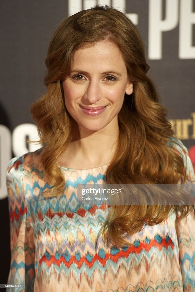 Spanish actress Sara Ballesteros attends 'The Pelayos' premiere at Fortuny Club on April 24, 2012 in Madrid, Spain.