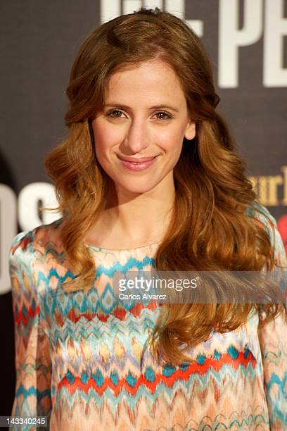 """Spanish actress Sara Ballesteros attends """"The Pelayos"""" premiere at Fortuny Club on April 24, 2012 in Madrid, Spain."""