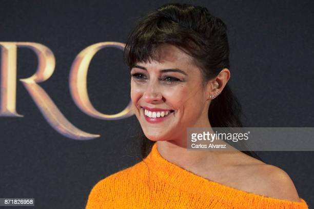 Spanish actress Sara Casasnovas attends 'Oro' premiere at the Callao cinema on November 8 2017 in Madrid Spain