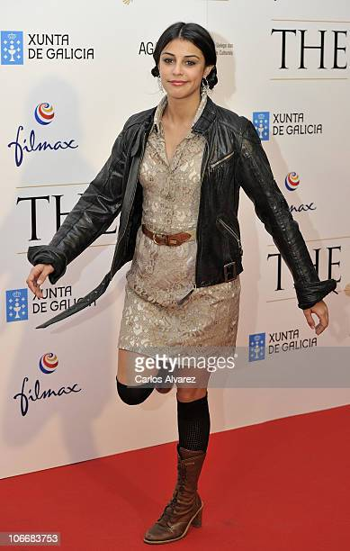 Spanish actress Sara Casasnovas attends 'The Way' premiere at the Callao cinema on November 10 2010 in Madrid Spain