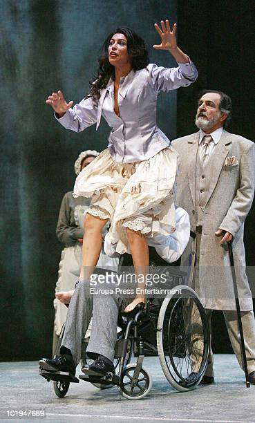 Spanish actress Sara Casasnovas performs the play 'Electra' at Teatro espanol on June 9 2010 in Madrid Spain The actress was attacked last summer...