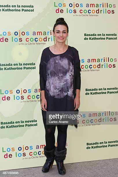 Spanish actress Sara Rivero attends the Los Ojos Amarillos de los cocdrilos premiere at the Academia de Cine on April 30 2014 in Madrid Spain