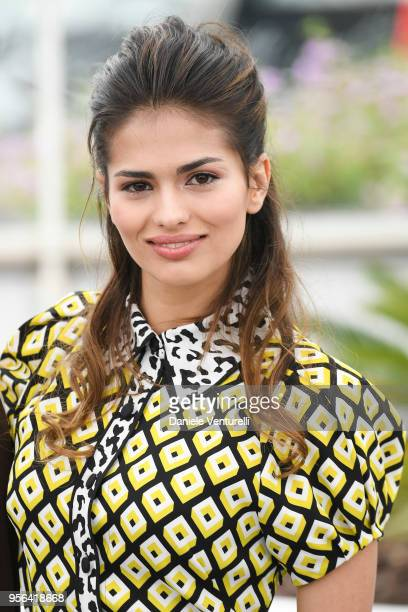 Spanish Actress Sara Salamo attends the photocall for Everybody Knows during the 71st annual Cannes Film Festival at Palais des Festivals on May 9...
