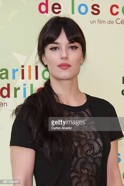 Spanish actress Sara Vega attends the Los Ojos Amarillos de los cocdrilos premiere at the Academia de Cine on April 30 2014 in Madrid Spain
