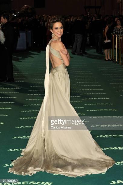 Spanish actress Silvia Abascal attends 22th Goya Cinema Awards 2008 on January 03 2008 at Palacio Municipal de Congresos in Madrid Spain