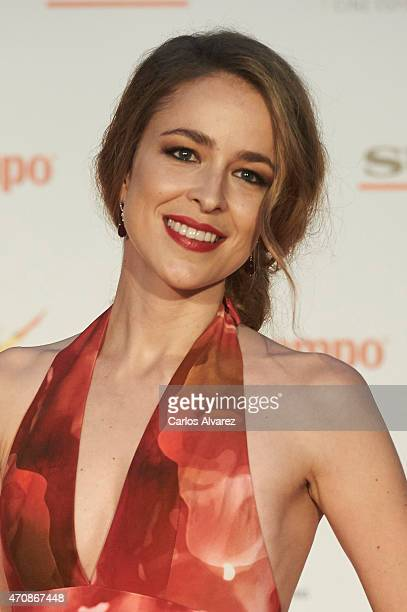 Spanish actress Silvia Abascal attends the 'A Cambio de Nada' premiere at the Cervantes Theater during the 18th Malaga Film Festival on April 23 2015...