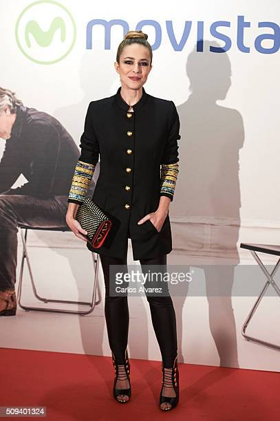 Spanish actress Silvia Abascal attends the 'Que fue de Jorge Sanz' premiere at the Proyecciones cinema on February 10 2016 in Madrid Spain