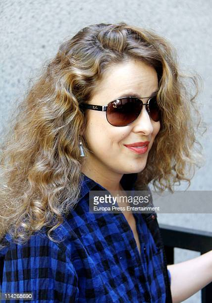Spanish actress Silvia Abascal is seen after suffering a brain haemorrhage on May 17 2011 in Madrid Spain