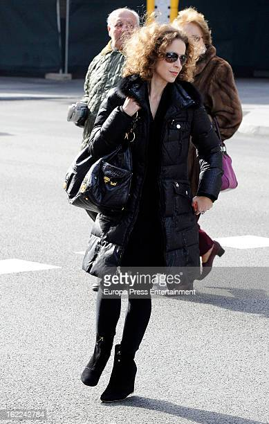 Spanish actress Silvia Abascal is seen on February 1 2013 in Madrid Spain