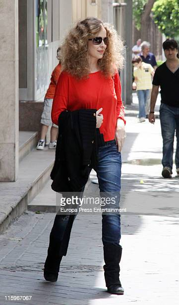 Spanish actress Silvia Abascal is seen sighting on June 13 2011 in Madrid Spain Silvia suffered a brain haemorrhage on April 2 while she was part of...