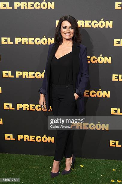 Spanish actress Silvia Abril attends the 'El Pregon' premiere at the Capitol cinema on March 16 2016 in Madrid Spain