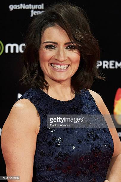Spanish actress Silvia Abril attends the Feroz Awards 2016 red carpet at the Gran Teatro Principe Pio on January 19 2016 in Madrid Spain