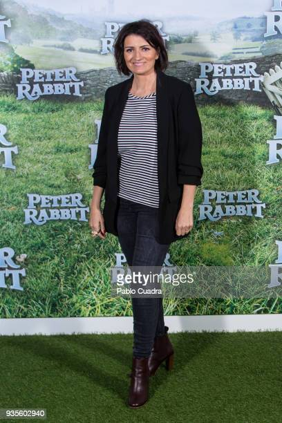 Spanish actress Silvia Abril attends the Peter Rabbit photocall at Sony offices on March 21 2018 in Madrid Spain