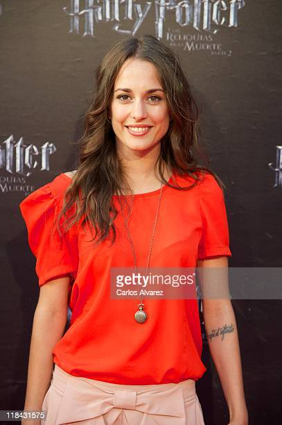 Spanish actress Silvia Alonso attends 'Harry Potter and The Deathly Hallows Part 2' premiere at the Callao cinema on July 7 2011 in Madrid Spain