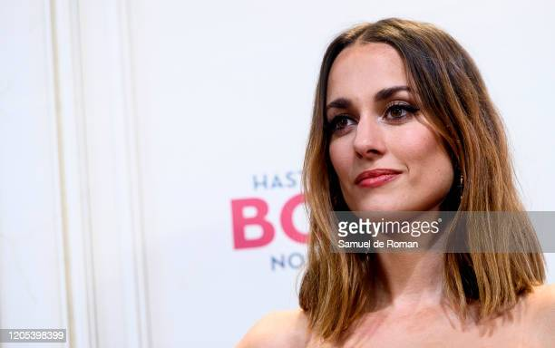 Spanish actress Silvia Alonso attends 'Hasta que la boda nos separe' premiere on February 10 2020 in Madrid Spain