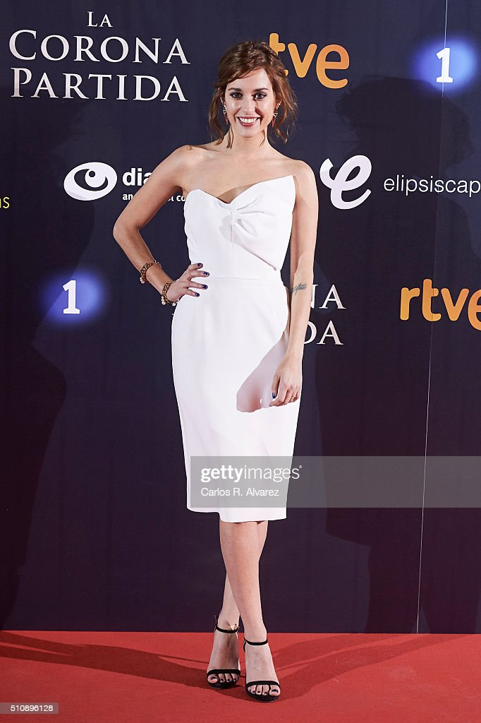 Spanish actress Silvia Alonso attends 'La Corona Partida' premiere at the Capitol cinema on February 17, 2016 in Madrid, Spain.