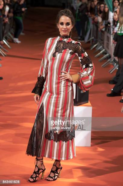 Spanish actress Silvia Alonso attends 'Tiempo de Guerra' premier at the Principal Teather during the FesTVal 2017 on September 6 2017 in...