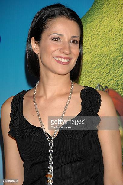 Spanish actress Silvia Jato attends the premiere of Shrek The Third on June 13 2007 at Palacio de la Musica Cinema in Madrid Spain