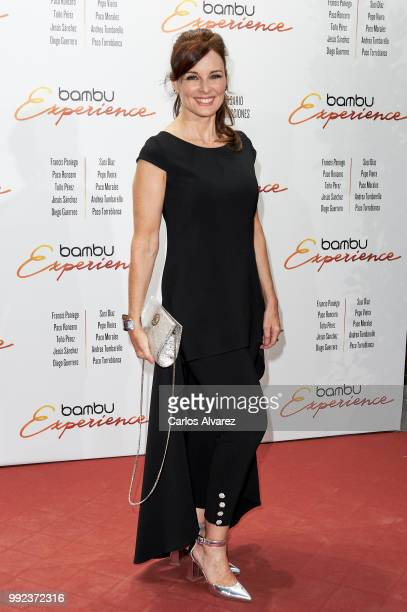 Spanish actress Silvia Marso attends the Bambu 10th anniversary party at Gran Maestre Theater on July 5 2018 in Madrid Spain