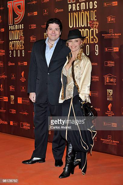 Spanish actress Silvia Tortosa and Carlos Canovas attend Union de Actores awards at the Price Circus on March 29 2010 in Madrid Spain