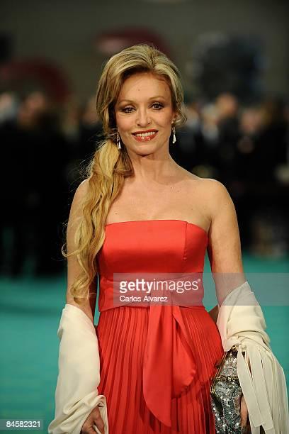 Spanish actress Silvia Tortosa attends the Goya Cinema Awards 2009 ceremony on February 01 2009 at the Palacio de Congresos in Madrid Spain