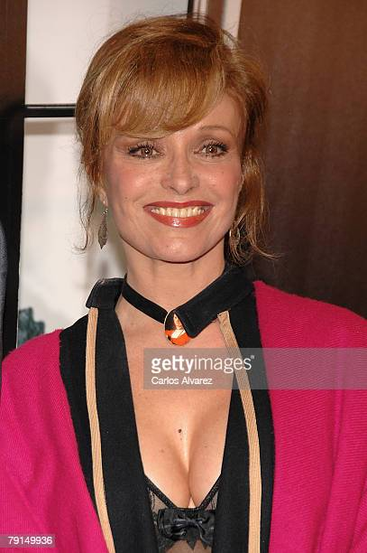 Spanish actress Silvia Tortosa attends the premiere of Sweeney Todd on January 21 2008 at the Palacio de la Musica Cinema in Madrid Spain