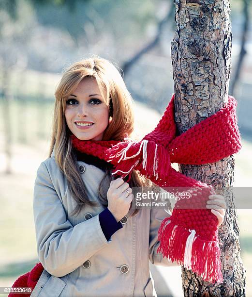 Spanish actress Silvia Tortosa in a photoshoot in the 'Casa de Campo' in Madrid Spain