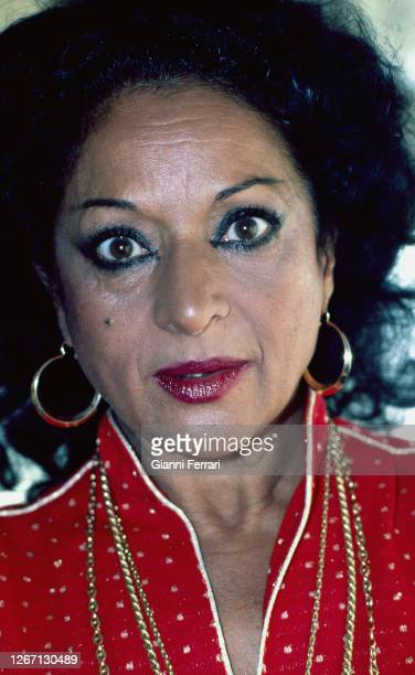 Spanish actress singer and flamenco dancer Lola Flores Madrid Spain 1981