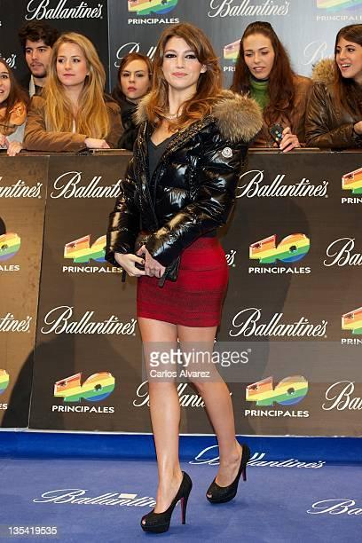 Spanish actress Ursula Corbero attends '40 Principales Awards' 2011 photocall at Palacio de los Deportes on December 9 2011 in Madrid Spain