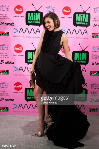Spanish actress Veronica Echegui attends the MIM Series Awards 2017 at the ME Hotel on December 18 2017 in Madrid Spain