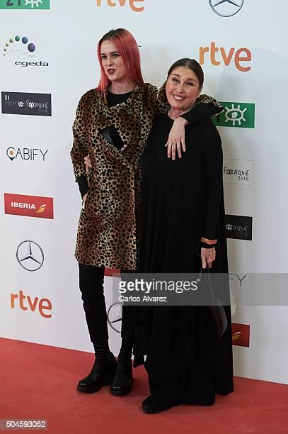 Spanish actress Veronica Forque and Maria Forque attend the Jose Maria Forque Awards 2015 at the Palacio Municipal de Congresos on January 11, 2016...