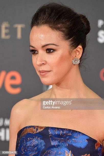 Spanish actress Veronica Sanchez attends Goya Cinema Awards 2016 at Madrid Marriott Auditorium on February 6 2016 in Madrid Spain