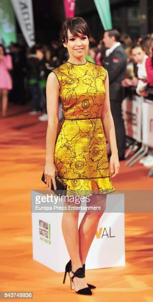 Spanish actress Veronica Sanchez attends 'Tiempo de Guerra' premier at the Principal Teather during the FesTVal 2017 on September 6 2017 in...