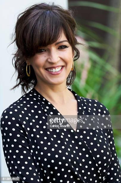 Spanish actress Veronica Sanchez attends 'Tiempos De Guerra' at Antena 3 Television on July 13 2017 in Madrid Spain
