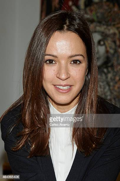 Spanish actress Veronica Sanchez attends 'Union de Actores' press conference on February 25 2015 in Madrid Spain