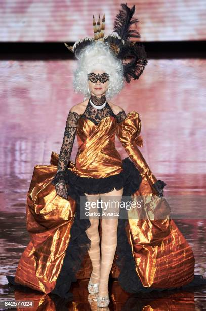 Spanish actress Victora Abril walks the runway at the Andres Sarda show during the MercedesBenz Madrid Fashion Week Autumn/Winter 2017 at Ifema on...