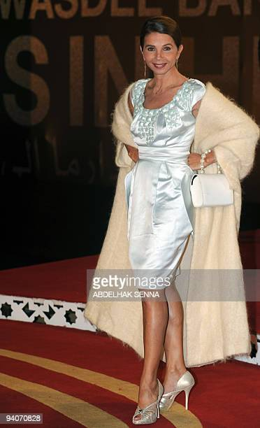 Spanish actress Victoria Abril arrives for a ceremony at the 9th edition of the Marrakech International Film Festival on December 5 2009 AFP PHOTO /...