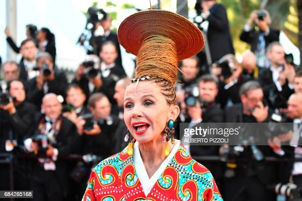 Spanish actress Victoria Abril poses as she arrives on May 17 2017 for the screening of the film 'Ismael's Ghosts' during the opening ceremony of the...
