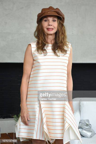 Spanish actress Victoria Abril poses for photos during a press conference to promote the VI Muestra de Cine Español e Iberoamericano at Habita Hotel...